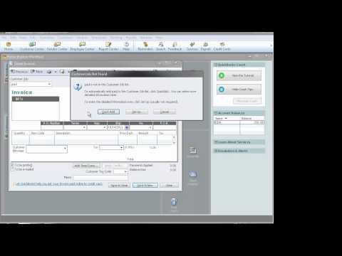 QuickBooks: How to Create Invoices
