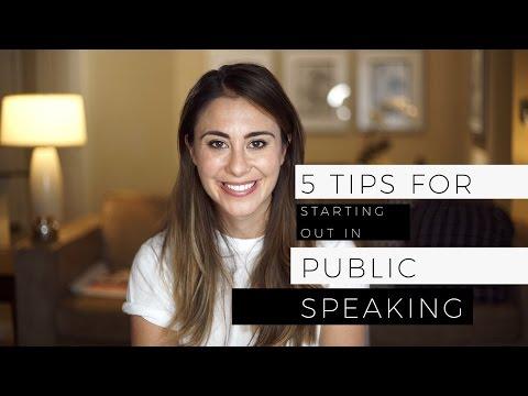 5 Tips For Public Speaking - For beginners!