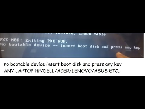 no bootable device insert boot disk and press any key
