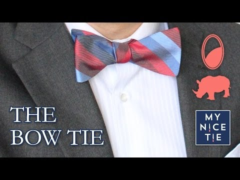 How to Tie a BOW TIE (slow+mirrored=beginner)   How to Tie a Tie with a Bow (easy)