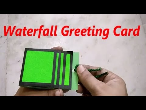 How to make Waterfall Card - Step by Step Tutorial |