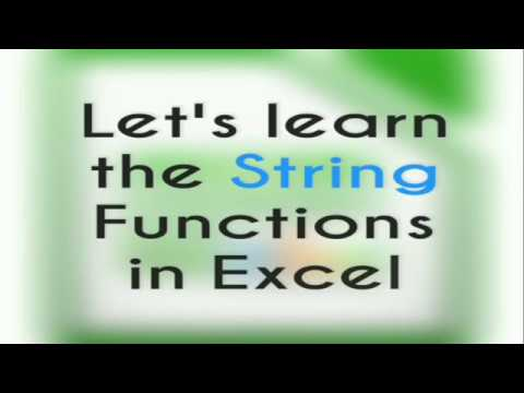 HOW TO USE STRING FUNCTIONS IN EXCEL(IN HINDI)