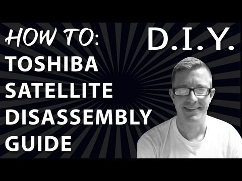 How to Toshiba Satelite Laptop Disassemble Guide & Fan Cleaning