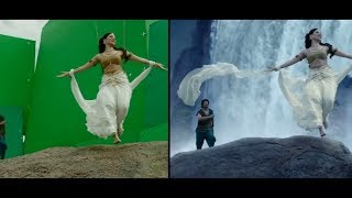 Baahubali movie Before and After VFX effects