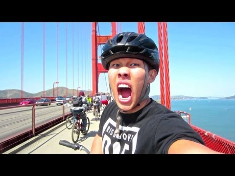 BIKE ACROSS THE GOLDEN GATE WITH ME - Life After College Vlog: Ep. 190