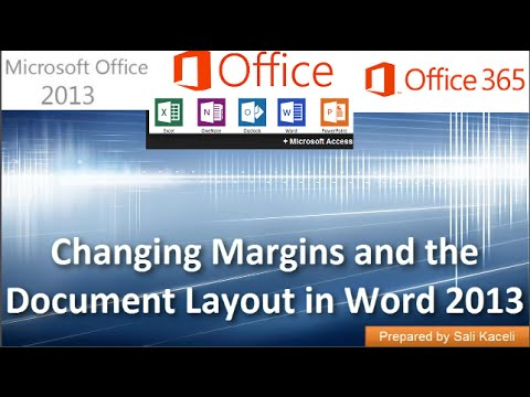 Word 2013: Changing Margins Orientation and Formatting in Word 2013