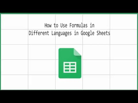 How to Use Formulas in Different Languages in Google Sheets