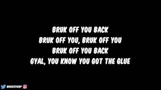 Konshens ft. Chris Brown - Bruk Off Yuh Back (Lyrics)