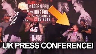 Logan Paul Walks OUT on KSI UK Press Conference!