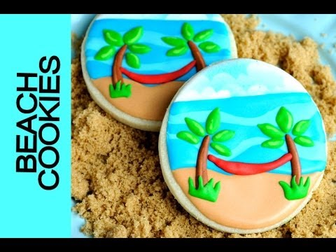 BEACH COOKIES TUTORIAL, DECORATING WITH ROYAL ICING