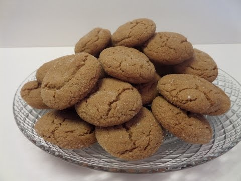 How to make Gingersnap Cookies Tutorial