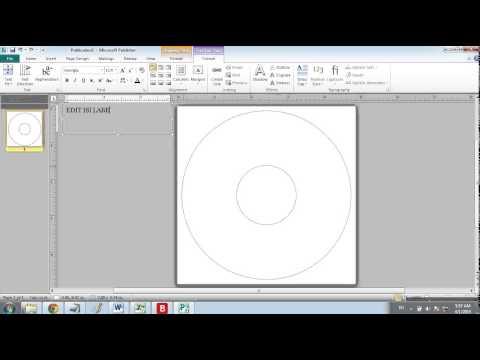 Cara membuat label cd dvd di Microsoft Publisher 2010