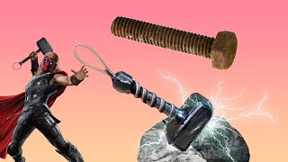 How to make thor hammer out of nut!!(how i make a thor hammer out of junk )