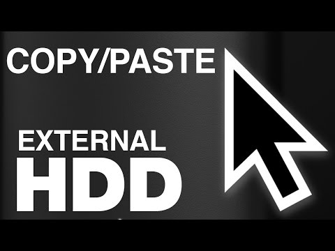 How to Copy/Paste Files folders to External Hard Drive on Mac