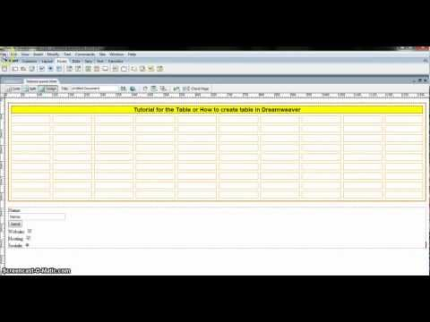 Dreamweaver Tutorial   How to create email contact form in Dreamweaver
