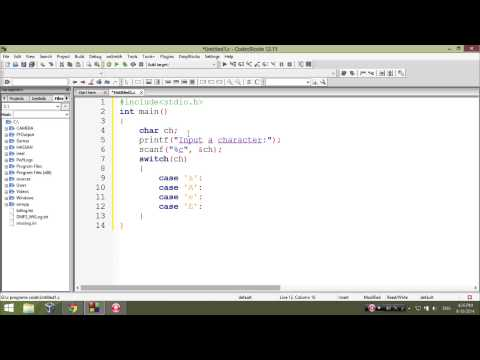C program to check vowel using switch statement - Learn C Programming p7
