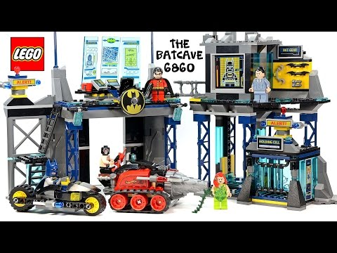 LEGO® Batman: The Batcave 6860 DC Comics w/ Bruce Wayne Robin Bane & Poison Ivy Speed Build