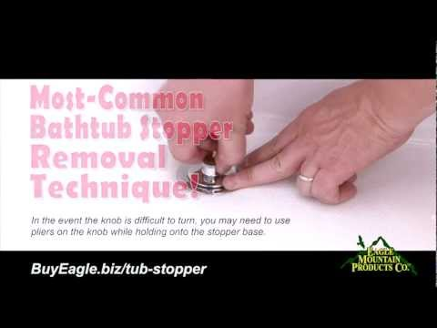 How-To Remove Most-Common Bathtub Stoppers - Replace with Watco