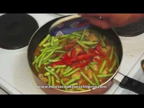 Paano magluto Sitaw at Baboy Recipe - Green Beans & Pork - Filipino Food Pinoy Cooking Tagalog