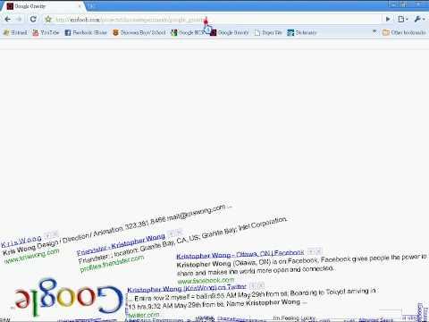 Google Gravity Demonstration