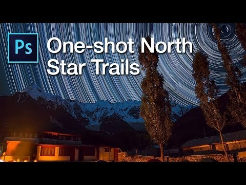 Creating North Star Trails in Photoshop using a single shot
