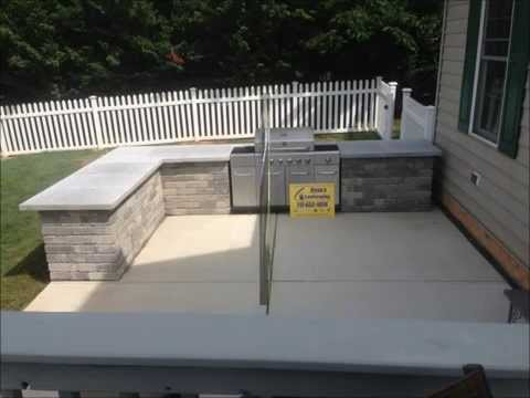 OUTDOOR KITCHEN, BUILT IN GRILL, & BAR INSTALLATION - HANOVER, PA area - RYAN'S LANDSCAPING