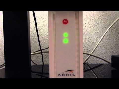 Arris / Motorola SB6183 modem LED lights function / malfunction?