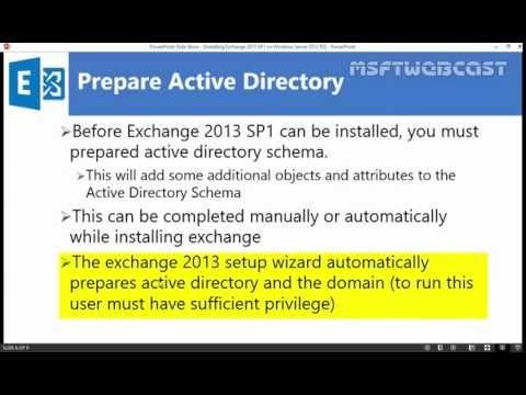 Exchange 2013 SP1: Installing Prerequisite on Windows Server 2012 R2