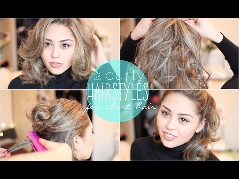 2 Easy Curly Hairstyles for Short Hair featuring the CHI Hair Straightener | Roxette Arisa