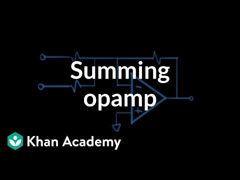 Summing op-amp circuit