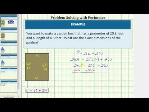 Find the Width of a Rectangle Given the Perimeter / Literal Equation