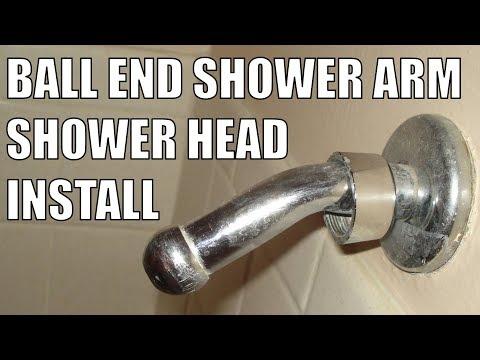 Ball End Shower Arm Shower Head Installation (Adapter)
