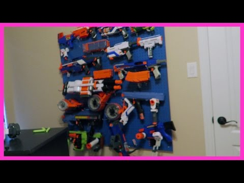 THE NERF GUN WALL | ERIKTV365