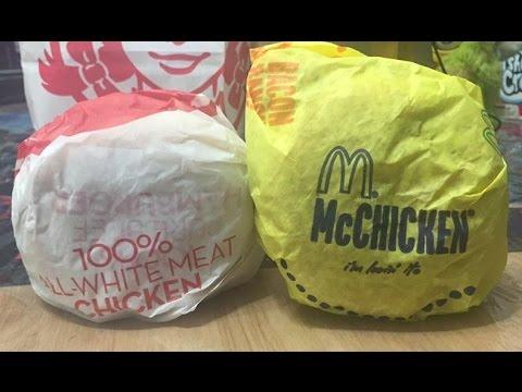 McDonald's McChicken vs Wendy's Crispy Chicken Sandwich