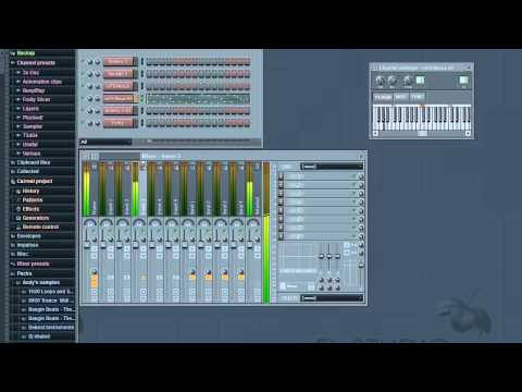 Fl Studio 10 Hip Hop Tutorial 2- How to make A hot freestyle beat