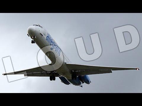 {TrueSound}™ Allegiant MD-80 LOW Overhead Crosswind Landing at Ft. Lauderdale