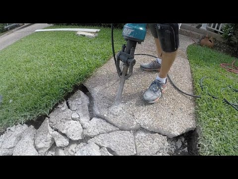 Pouring an exposed aggregate sidewalk