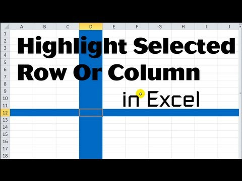 Excel VBA Tips n Tricks #17 Highlight Selected Row or Column