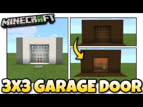 Minecraft - 3X3 GARAGE DOOR [ Redstone Tutorial ] Works on ALL Versions !