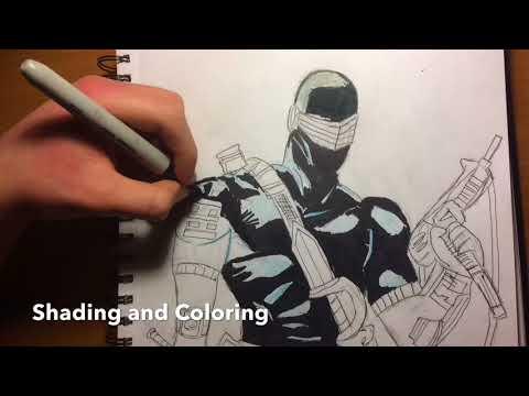 Drawing Snake eyes (GI Joe)