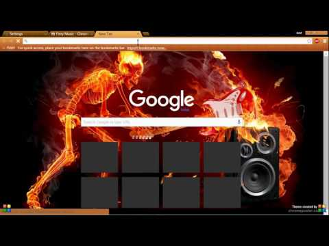 How to customize google chrome homepage with cool themes