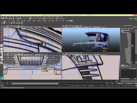 [TIMELAPSE] Modelling a Car in Maya Series 1 [P19]