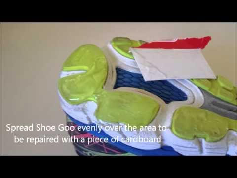 Repairing running shoe sole wear