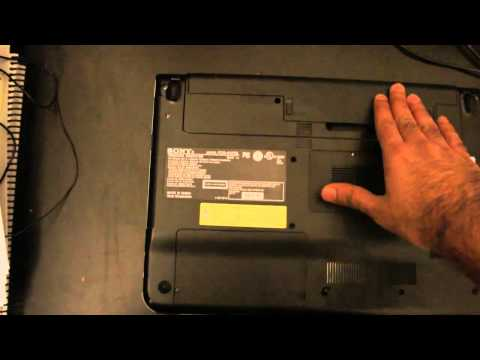 Replacing Hard Disk Drive from Sony Vaio Laptop Part I