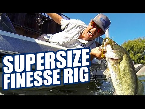 How To Fish Big Finesse Baits: Lucky Tackle Box Tips