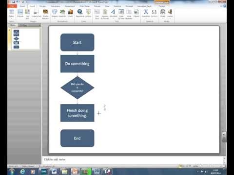 How to create a flow chart using PowerPoint