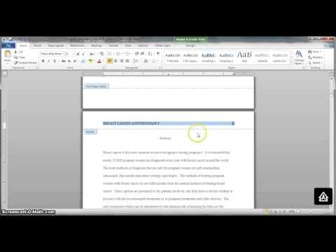 Creating an APA-style header in Microsoft Word 2010 and OpenOffice