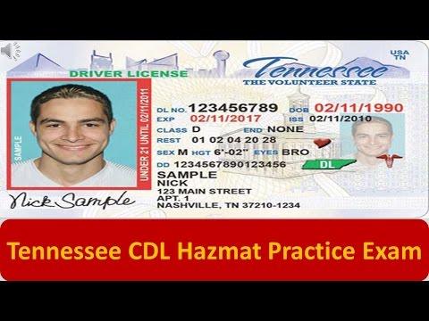 Tennessee CDL Hazmat Practice Exam