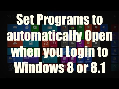 HOW-TO: Autostart a Program when you Login on Windows 8 and 8.1 using the Startup folder