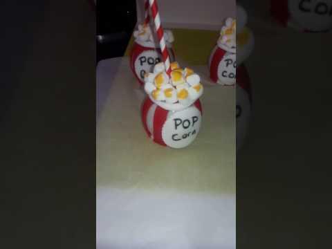 Popcorn candy apples